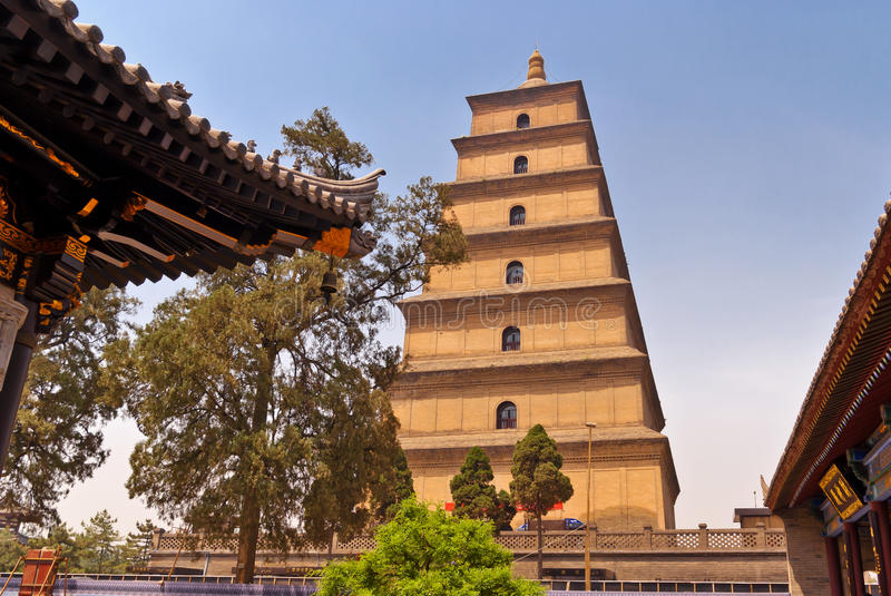Giant Wild Goose Pagoda. Xian, China stock photo
