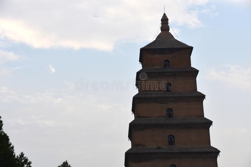 Giant Wild Goose Pagoda Dayan Pagoda, Xian, China royalty free stock photos