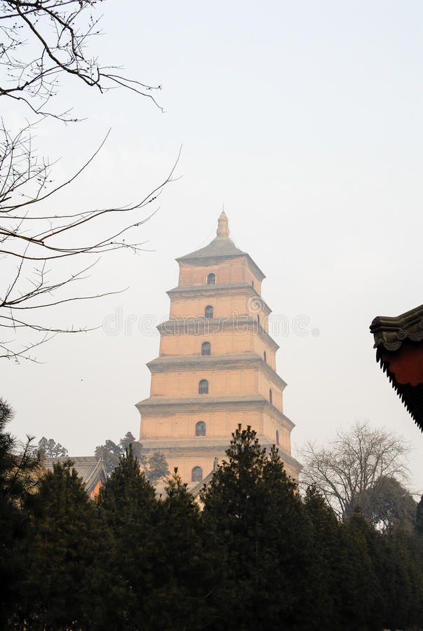 Giant Wild Goose Pagoda, Xi`an, China royalty free stock photography