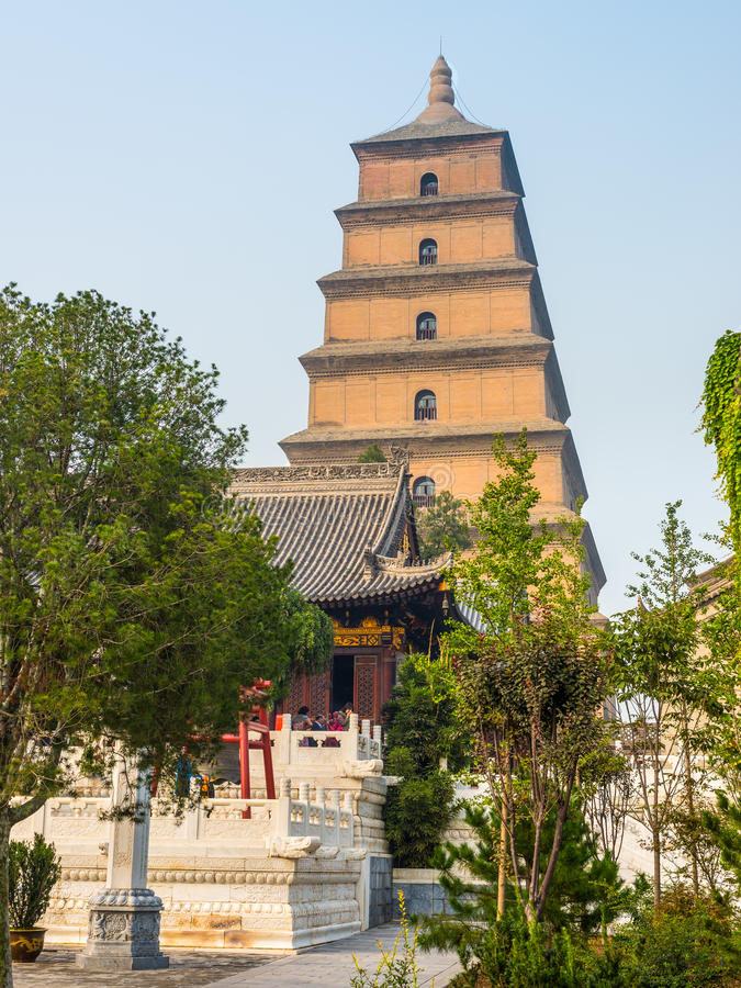 Giant Wild Goose Pagoda in Xi'an - China stock photography