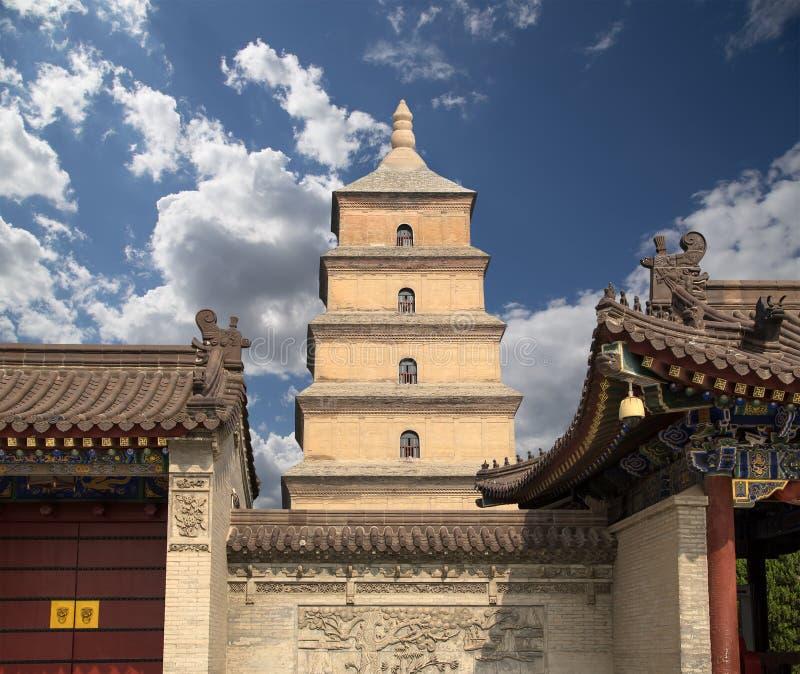 Giant Wild Goose Pagoda Xian (Sian, Xi'an), Shaanxi province, China royalty free stock photos