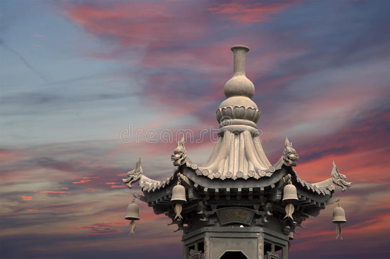 Giant Wild Goose Pagoda, Xian (Sian, Xi'an), Shaanxi province, China. Giant Wild Goose Pagoda (Big Wild Goose Pagoda), is a Buddhist pagoda located in southern royalty free stock photo