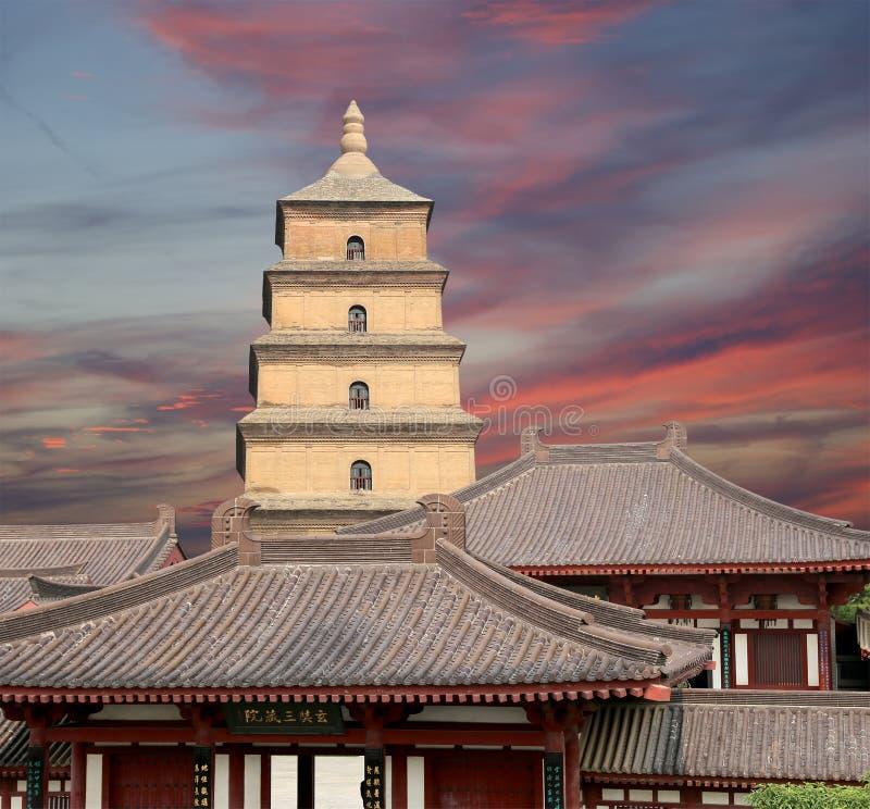 Giant Wild Goose Pagoda, Xian (Sian, Xi'an),Shaanxi province, China stock photography