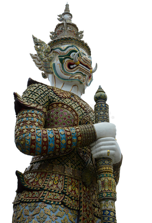 Free Giant Yaksha Demon Statue At The Grand Palace In Bangkok, Thailand Stock Image - 74133331
