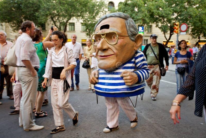 Giants проходят парадом в фестивале 2013 Mercè Ла Барселоны стоковое фото