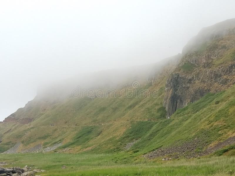 Cause way cliffs. The giants cause way cliffs stock photos