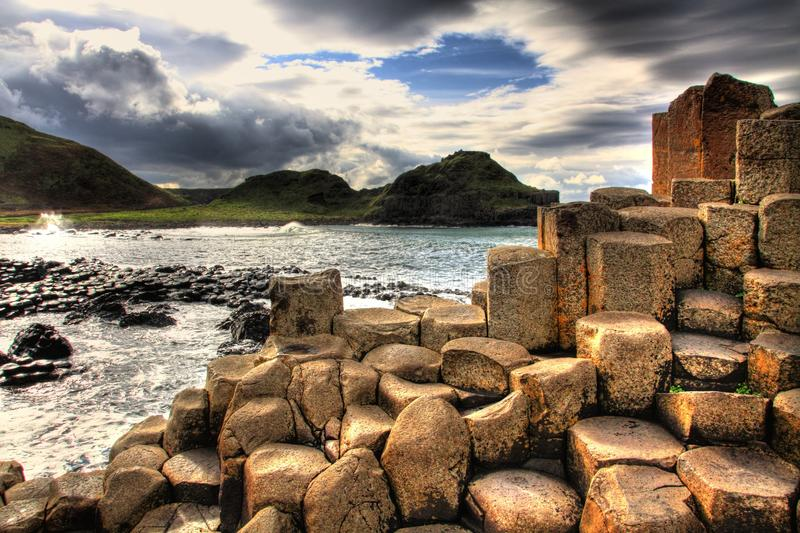 Giants Causeway. Glimpse of the view of Giants Causeway stock photos