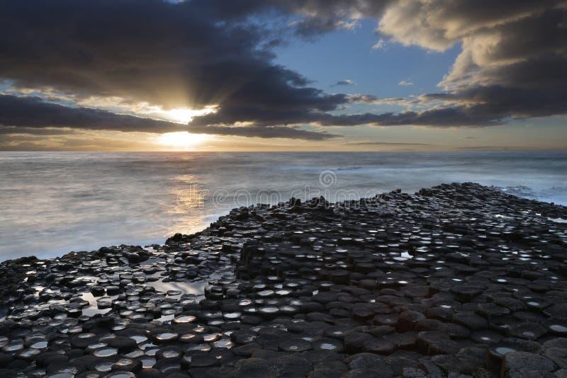 Giants Causeway - County Antrim - Northern Ireland royalty free stock photo