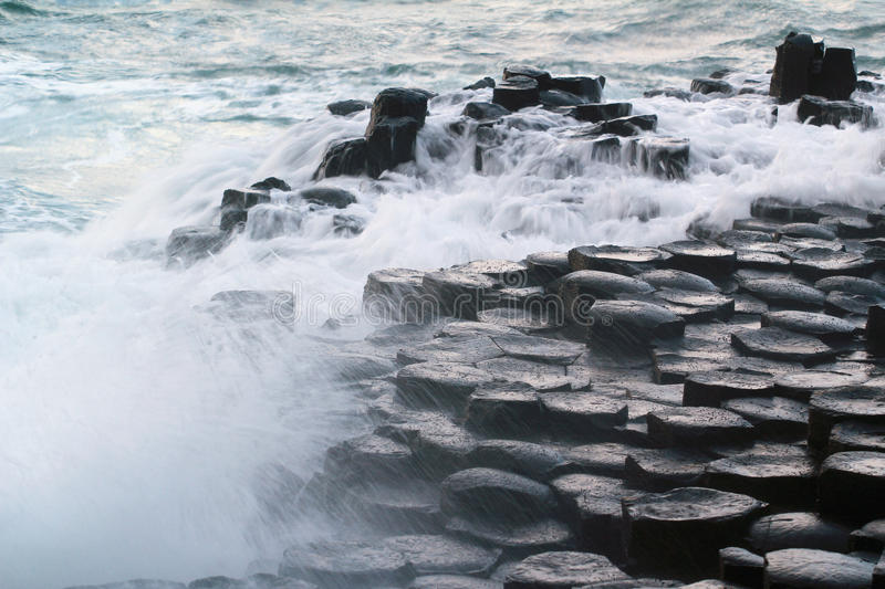 Giants causeway. Giant's causeway; giant; causeway; Nature; County Antrim; UK; Northern Ireland; Famous Place; Geology; UNESCO World Heritage Site stock photography