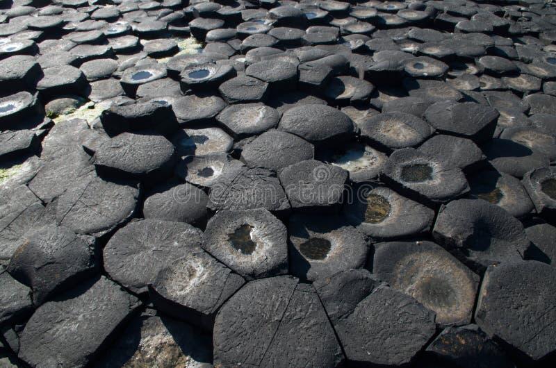 The Giants Causeway. The hexagonal basaltic rocks of the Giants Causeway, Northern Ireland royalty free stock photo