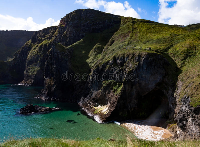 Giants Causeway Norther ireland. The cliffs along the Northern Coast o Ireland royalty free stock image