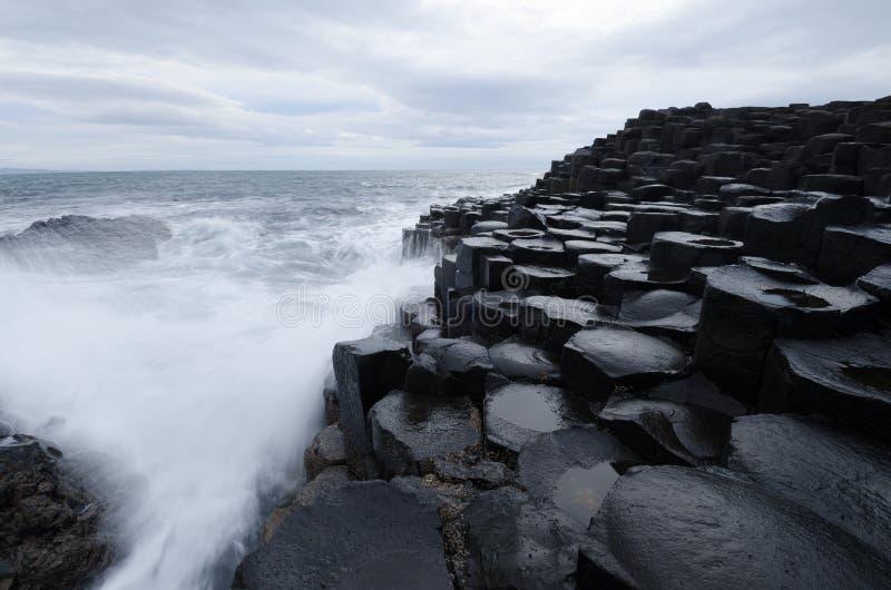 The Giants Causeway, Northern Ireland stock photo