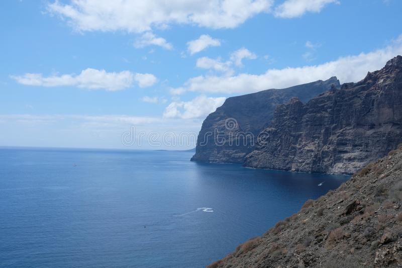 The Giants cliffs from Tenereife, Canary Islands (SPAIN stock photo