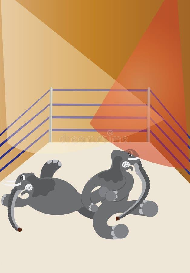 Giants de lutte illustration libre de droits