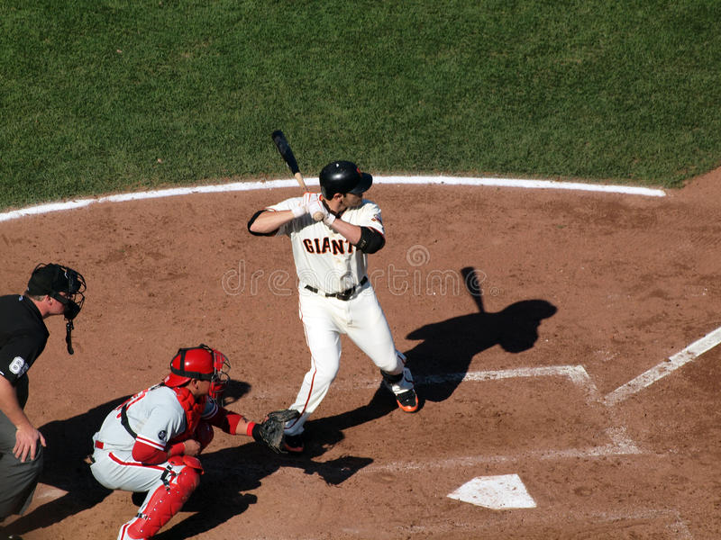 Download Giants Freddy Sanchez Stands In The Batters Box Editorial Photography - Image of base, gloves: 23614692