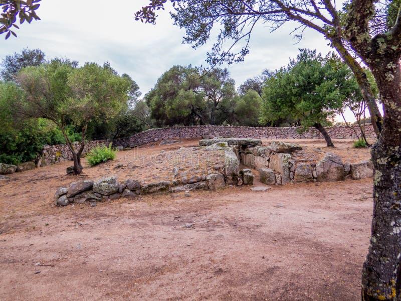 Giants grave, Arzachena, Sardinia stock photos