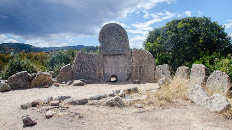 Giants` grave of S`Ena e Thomes, Sardinia, Italy stock photo