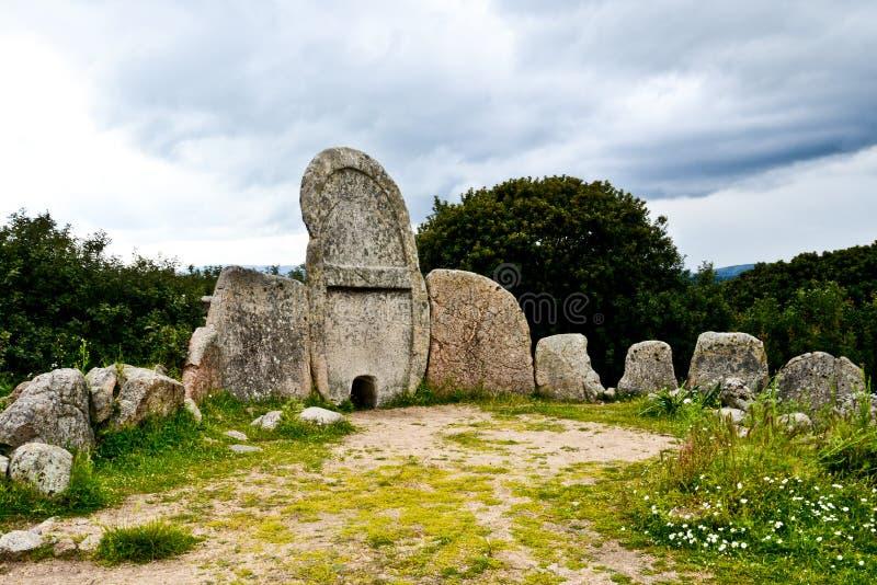Giants` grave, Sardinia, Italy stock image