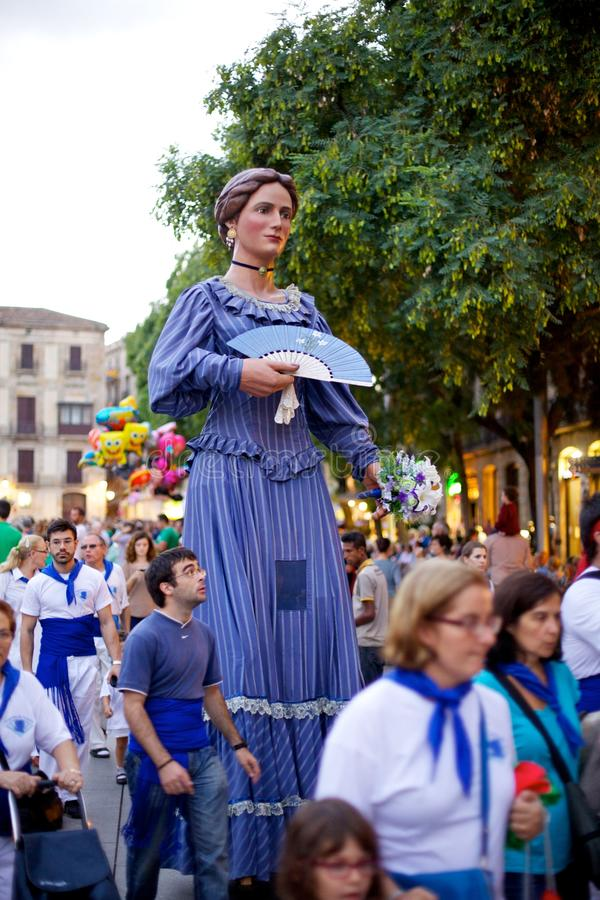 Giants Parade in Barcelona La Mercè Festival 2013 royalty free stock photo