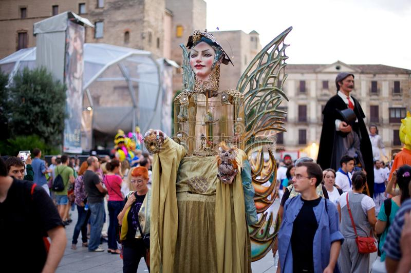 Giants Parade in Barcelona La Mercè Festival 2013 royalty free stock image