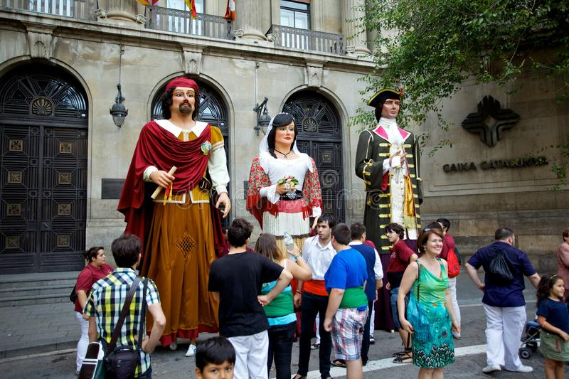 Giants Parade in Barcelona La Mercè Festival 2013 stock photos