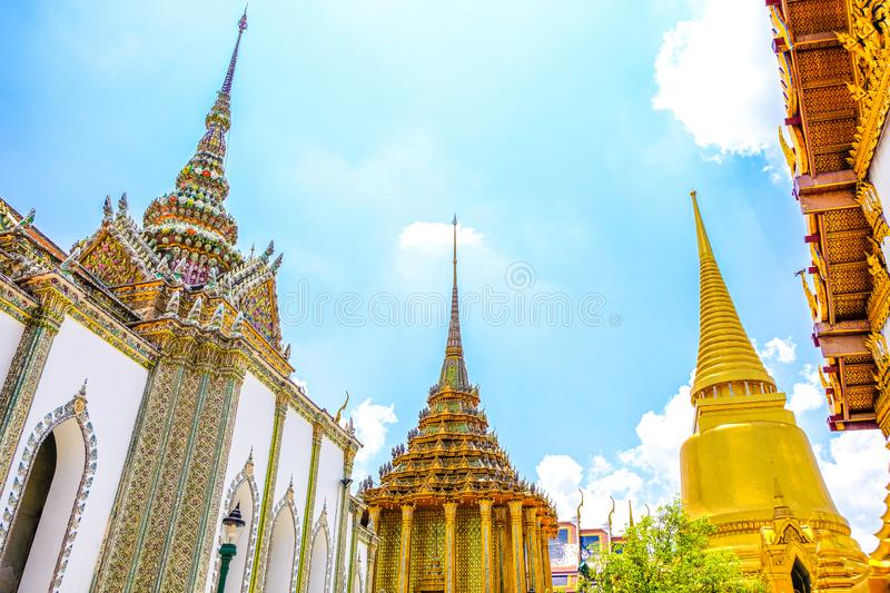 The Giants Of Temple, Grand and Gorgeous, Grand Palace, Bangkok, Thailand royalty free stock photos