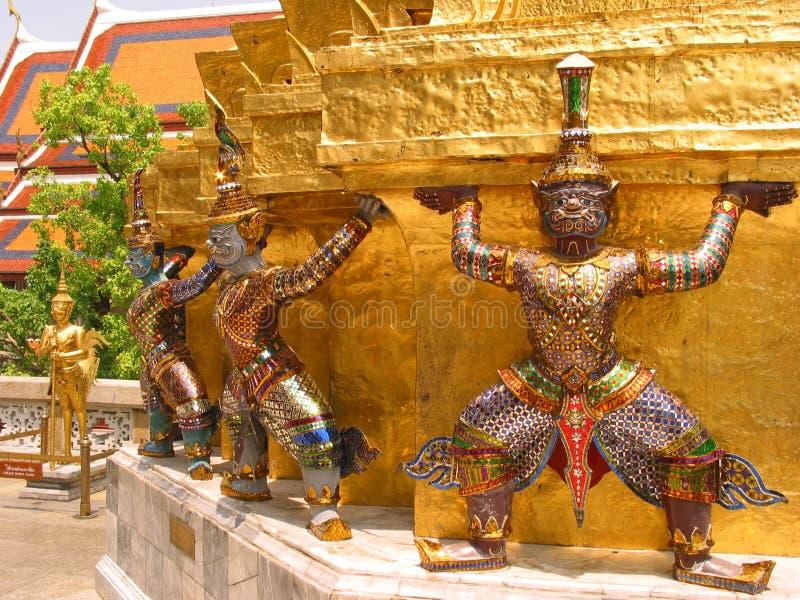 Giants, Wat Phra Kaew, Bangkok, Tailandia fotos de archivo libres de regalías