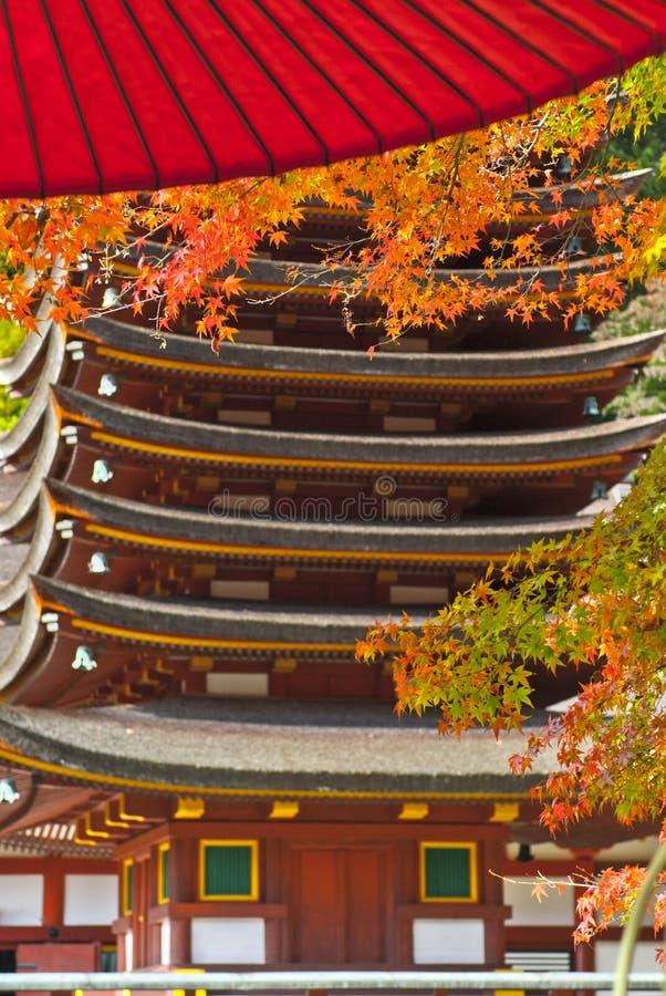 Giapponese Autumn Nagoya, viaggio del Giappone immagini stock libere da diritti