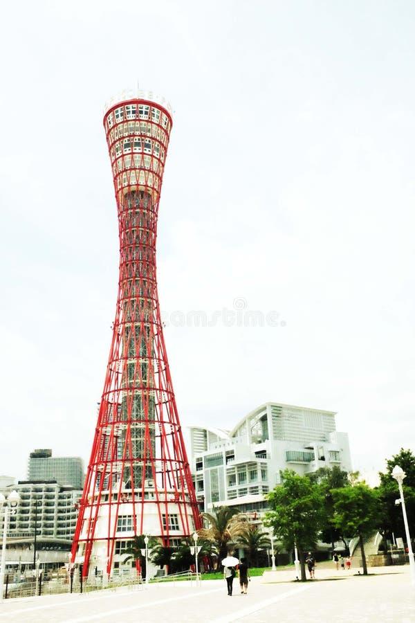 Giapponese Kobe Port Tower immagini stock libere da diritti