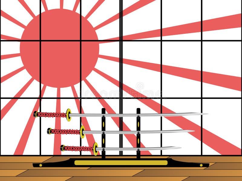 giapponesi katane 免版税库存照片