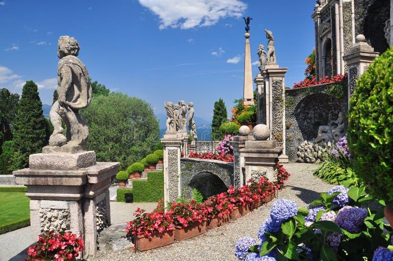 Giardini botanici di Borromeo, bella di Isola fotografia stock