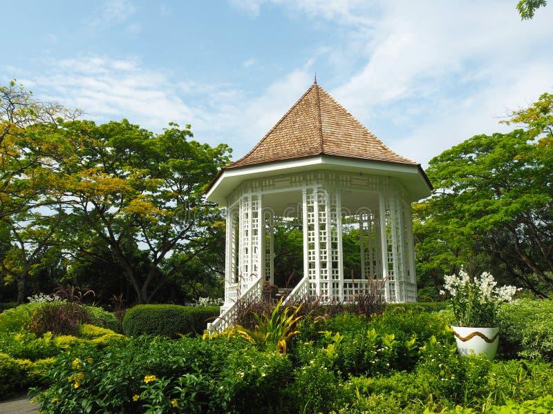 Giardini botanici di Singapore - padiglione immagini stock