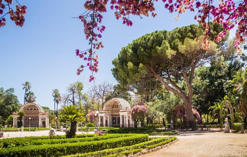 Giardini botanici Orto Botanico, Palermo, Sicilia di Palermo fotografia stock libera da diritti