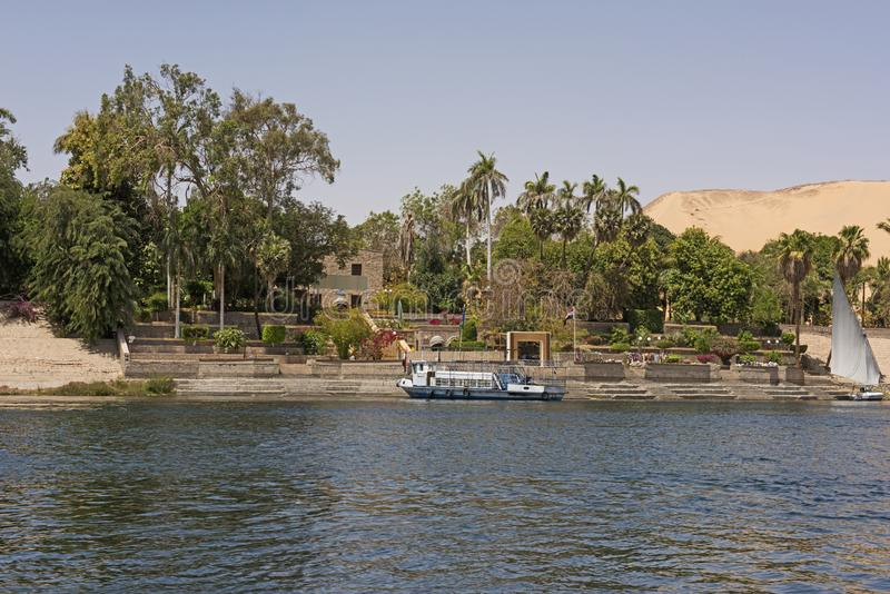 Giardini botanici tropicali a Assuan nell'Egitto fotografie stock