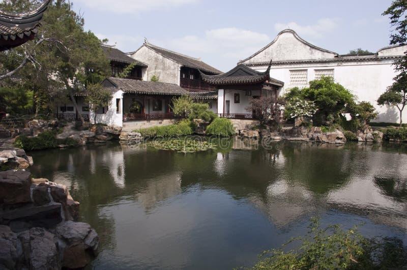 Giardini classici di Suzhou, corsa in Cina fotografia stock libera da diritti