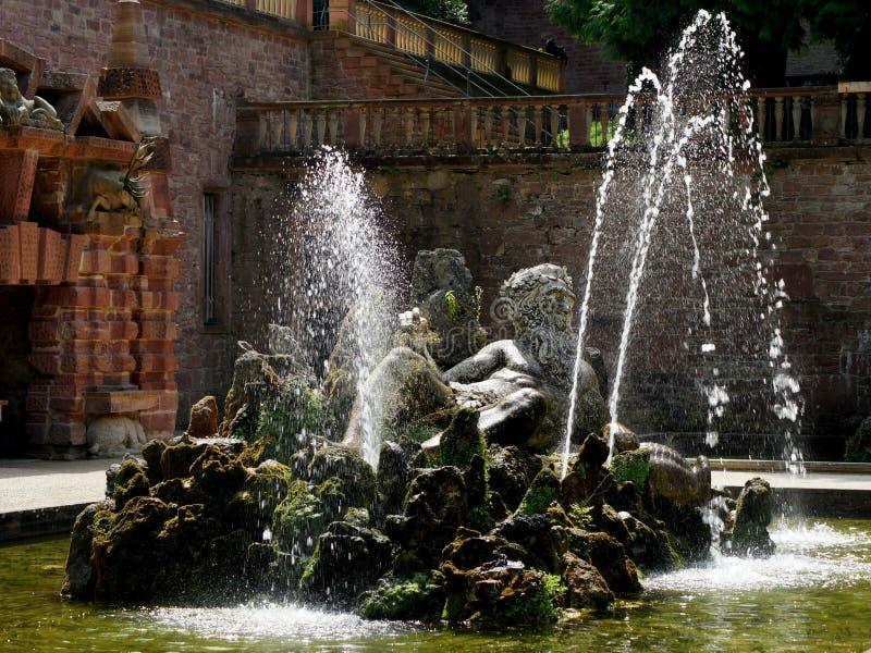 Giardini del castello di Heidelberg fotografia stock libera da diritti