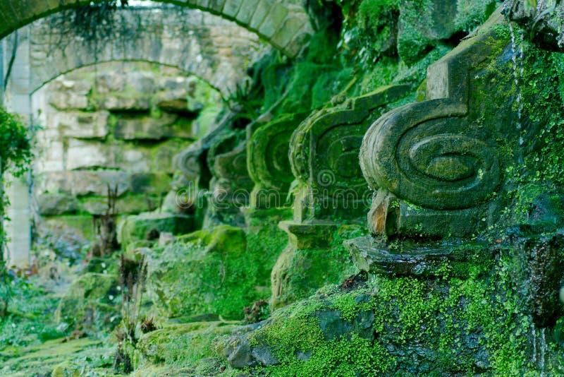 Giardini del castello di Hever fotografia stock libera da diritti