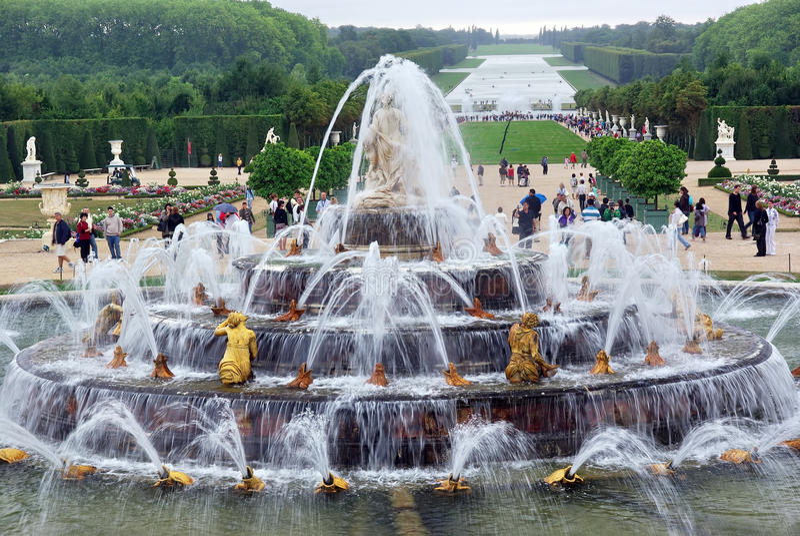 Giardini del chateau di Versailles immagine stock libera da diritti