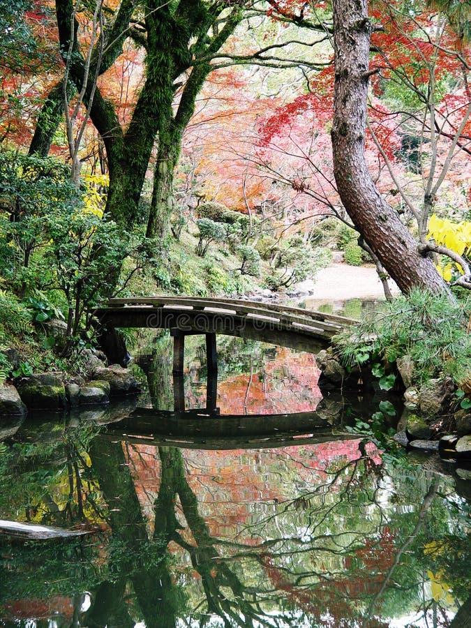 Giardini del Giappone Hiroshima Shukkeien fotografie stock libere da diritti