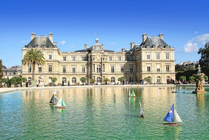 Giardini del Lussemburgo a Parigi, Francia immagini stock libere da diritti