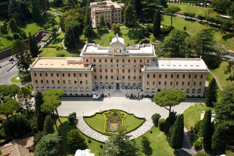 Giardini del Vaticano - papa Residence immagine stock libera da diritti