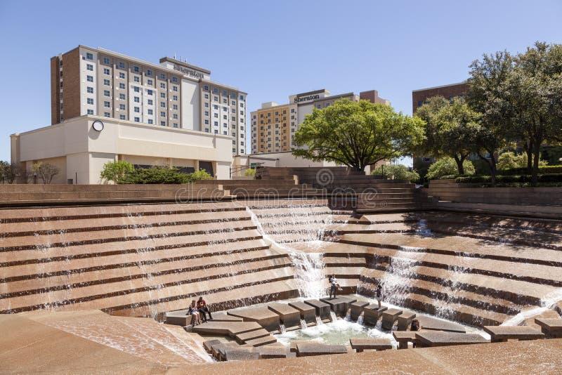 Giardini dell'acqua a Fort Worth, TX, U.S.A. immagini stock