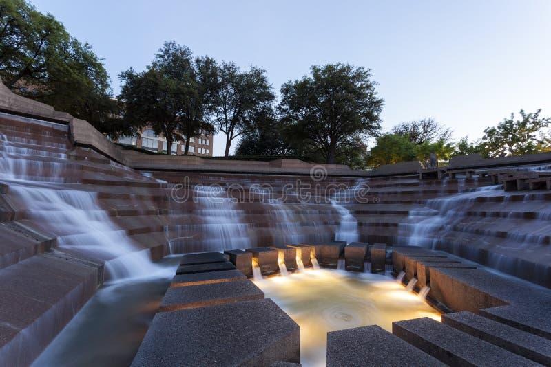 Giardini dell'acqua a Fort Worth, TX, U.S.A. fotografia stock libera da diritti