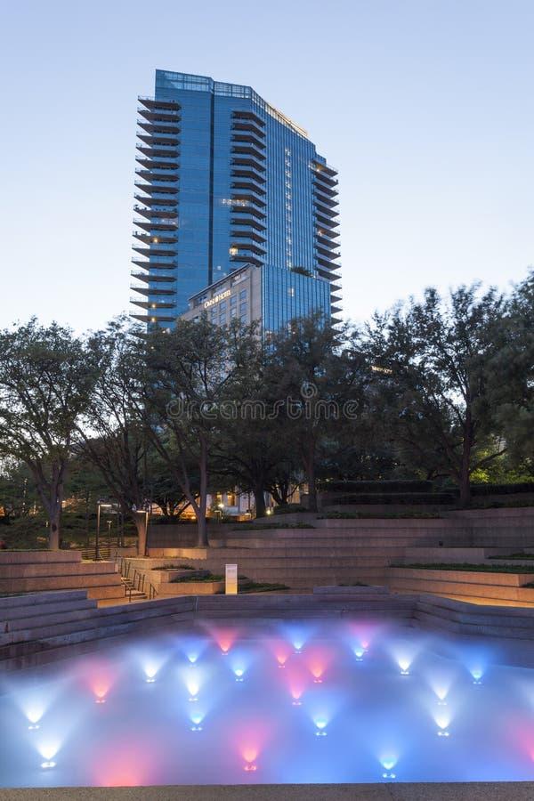 Giardini dell'acqua a Fort Worth, TX, U.S.A. immagini stock libere da diritti