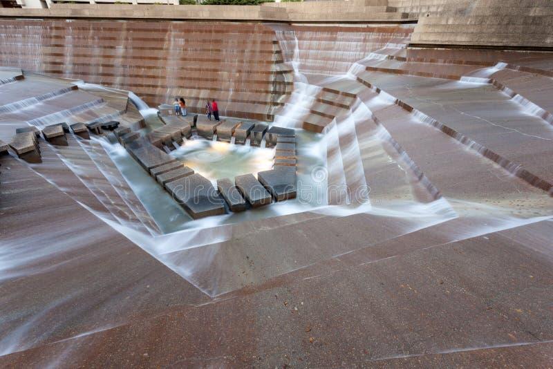 Giardini dell'acqua a Fort Worth, TX, U.S.A. fotografie stock libere da diritti