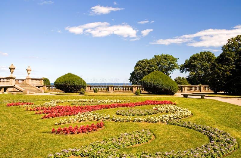 Giardini della proprietà privata fotografia stock