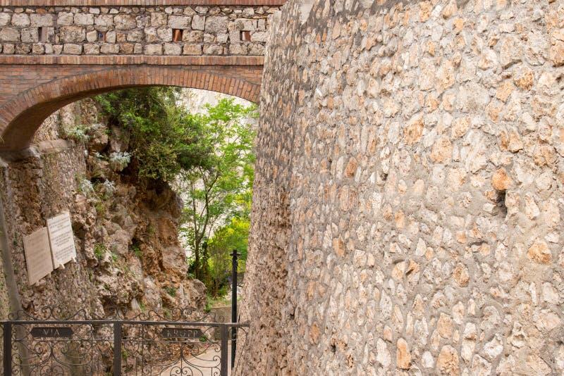 Giardini di Augusto in Capri, Italy royalty free stock image