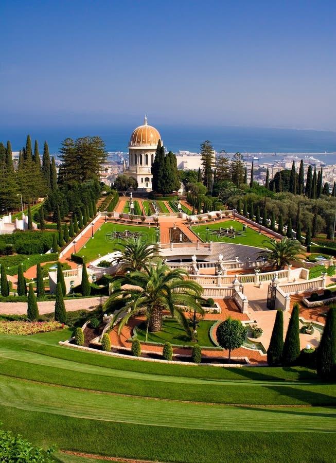 Giardini di Baha'i fotografia stock libera da diritti