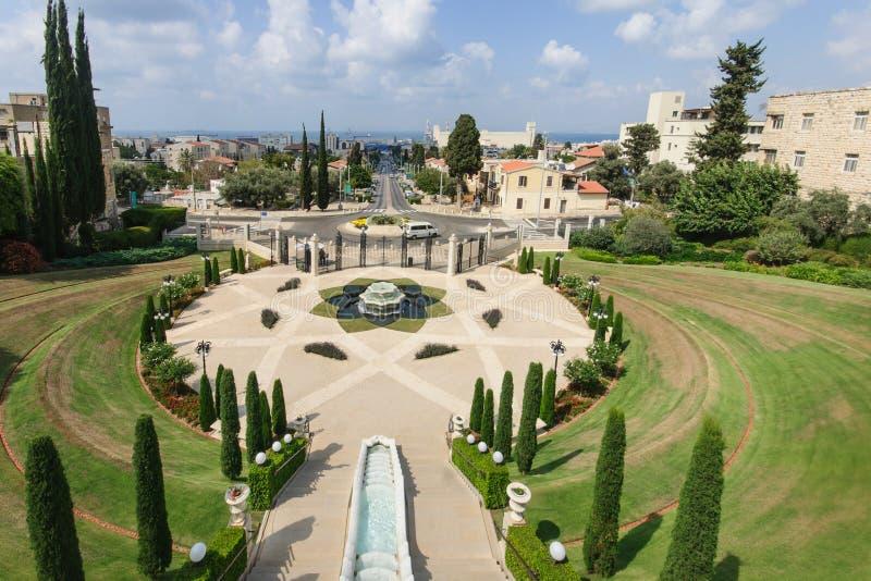 Giardini di Bahai, Haifa immagini stock