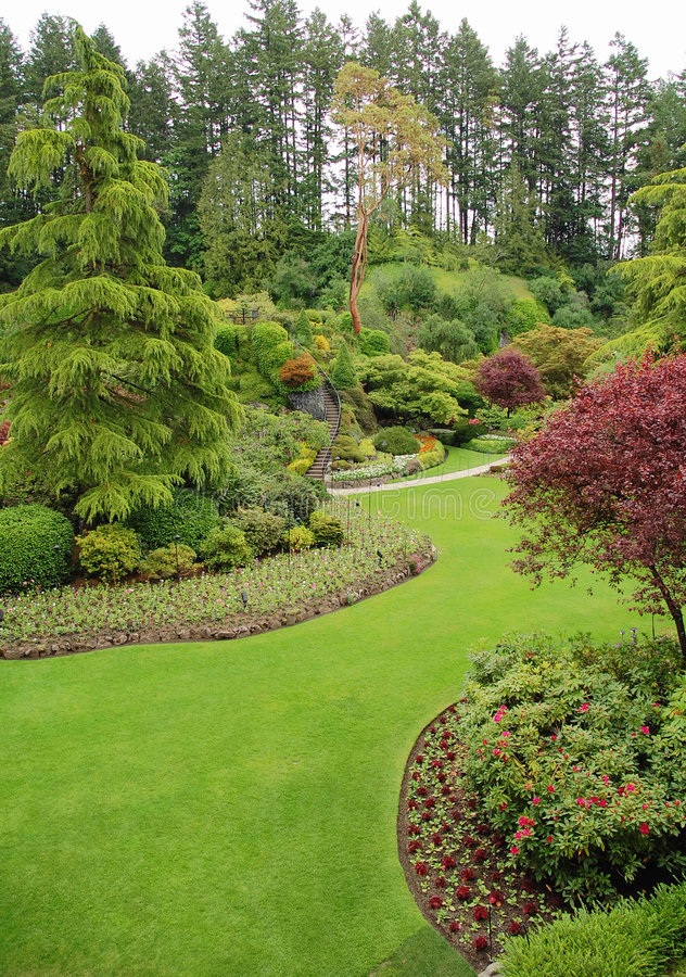 Giardini di Butchart fotografie stock